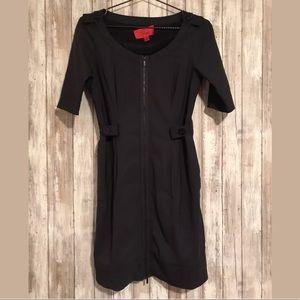 Spoke Zac Posen Dress SZ 2 Virgin Wool Fitted Zip